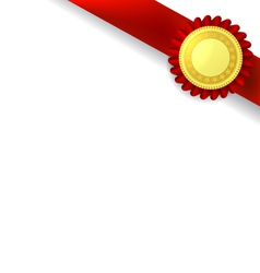 Orner ribbon and quality certificate vector