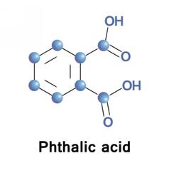 Phthalic acid aromatic vector