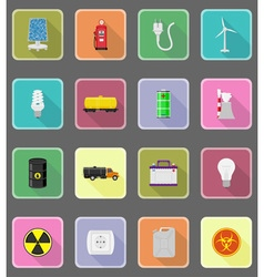power and energy flat icons 20 vector image vector image