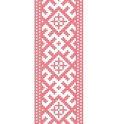 Russian embroidered pattern vector image vector image