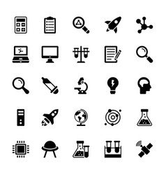Science and technology glyph icons 11 vector