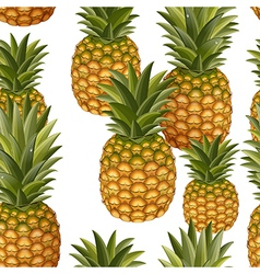Seamless texture of pineapple vector