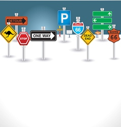 Signs background vector