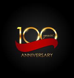Template 100 years anniversary vector