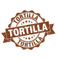 tortilla stamp sign seal vector image