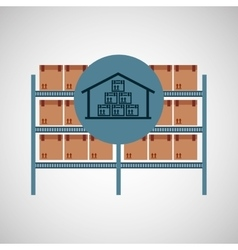warehouse box storage icon vector image