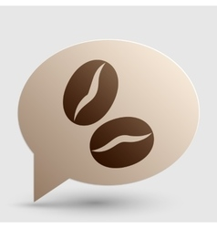 Coffee beans sign brown gradient icon on bubble vector