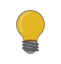 Isolated light bulb design vector