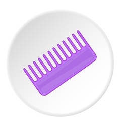 Toothed comb icon cartoon style vector