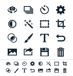 Photography icons vector