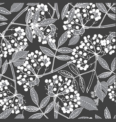Creeper berries seamless pattern vector