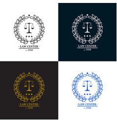 Law firm office center logo desig vector