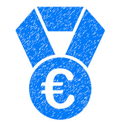 euro champion medal grunge icon vector image