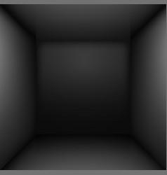 Black simple empty room interior for design vector