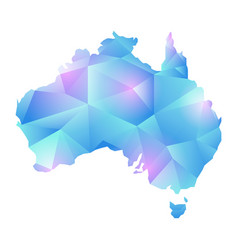 Map of australia map concept polygon vector