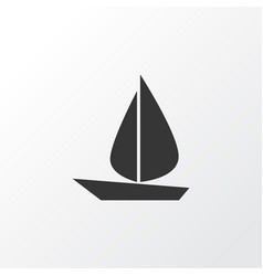 Sail icon symbol premium quality isolated boat vector