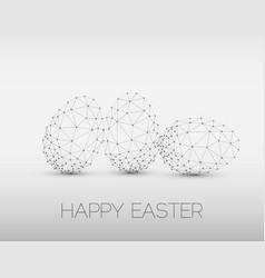 Minimalistic geometric happy easter card vector