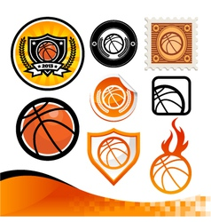 Basketball design kit vector