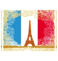 Eiffel tower artistic background vector