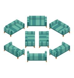 Isometric sofa vector