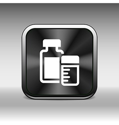 Medication icon chemistry flat design style vector