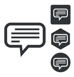 Text message icon set monochrome vector
