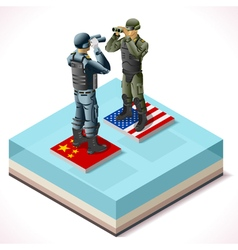 China usa 01 infographic isometric vector