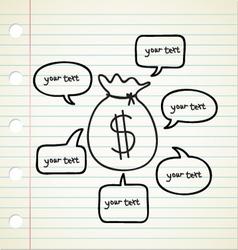 Business Money Talk vector image