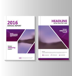 Purple annual report leaflet brochure flyer vector