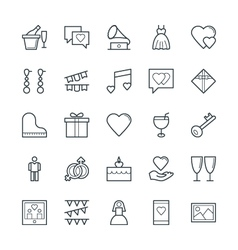 Wedding cool icons 2 vector