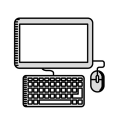 Computer monitor isolated icon design vector