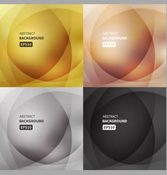 Abstract light backgrounds set vector
