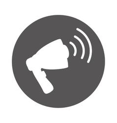 advertising bullhorn loudspeaker vector image