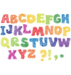 Alphabet scribble letters vector image vector image
