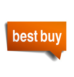 best buy orange speech bubble isolated on white vector image vector image