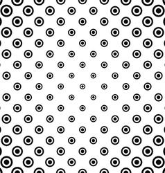 Black white seamless circle pattern vector