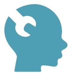 Brain Service Flat Icon vector image vector image