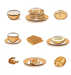breakfast vector image