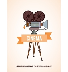 Cinema invitation card vector image vector image