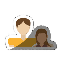 Couple relationship love shadow vector