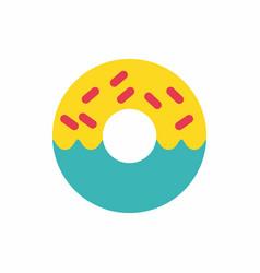 Donut icon vector