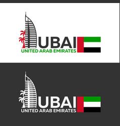 Dubai logo uae united arab emirates vector