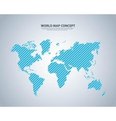 Earth and striped icon world and map design vector