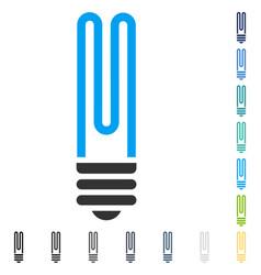 Fluorescent bulb icon vector