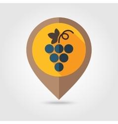 Grapes flat mapping pin icon vector image vector image