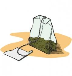 green tea bag vector image vector image