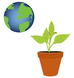 Green world concept vector image vector image
