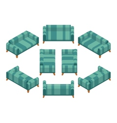 Isometric sofa vector image vector image