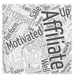 Keeping affiliates motivated word cloud concept vector