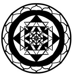 mandala abstract geometric ornament vector image